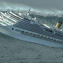 Круизное судно чуть ли не переворачивается во время бури! Шокирующие кадры...