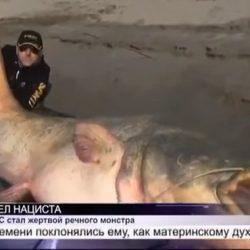 Два Польских рыбака поймали огромного сома. В его брюхе они обнаружили...
