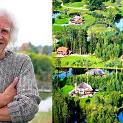 Миллионер из Латвии приобрёл 3000 га леса и построил там «Город Солнца». Поразительное зрелище...