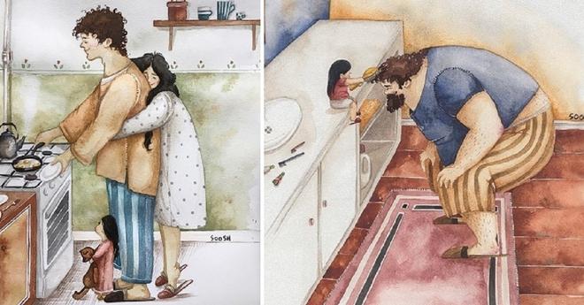Подборка самых тёплых иллюстраций о семье, который растопят ваши сердца…